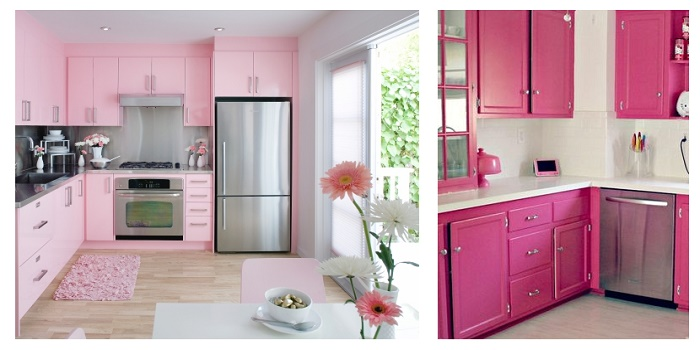 Decorate Your Kitchen Pink