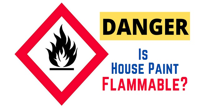 is paint flammable after it dries