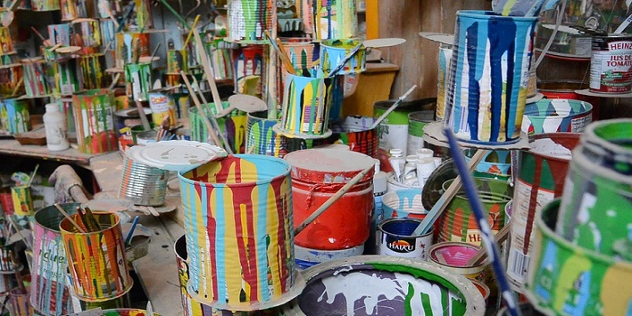 how to harden paint to throw away
