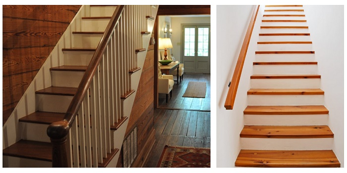 how to paint wood stair risers