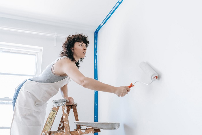 Ladder for painting walls and ceilings