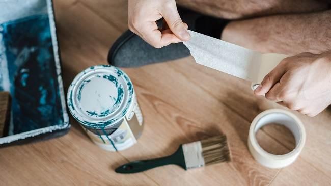 can duct tape remove paint